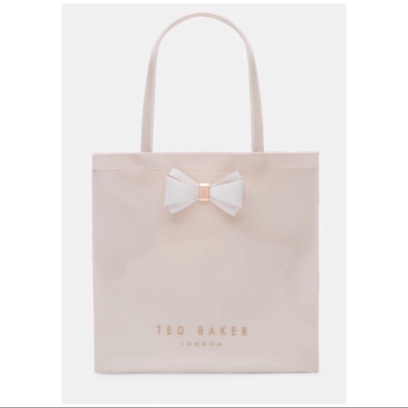 785392186  TED BAKER  ALACON Pink Signature Bow Shopping Bag.  M 5b6d80697ee9e2e61d6e6c17